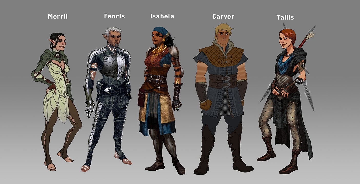 Anders Dragon Age Concept Art of early concept art that